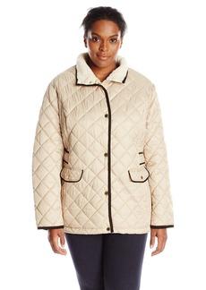 Nautica Women's Plus-Size Diamond Quilted Barn Jacket