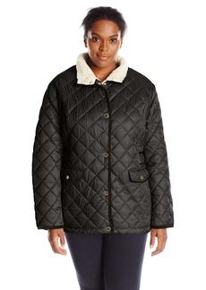Nautica Women's Plus-Size Diamond Quilted Barn Jacket  2X