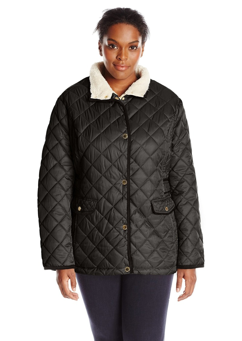 Nautica Women's Plus-Size Diamond Quilted Barn Jacket  2X