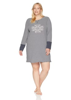 Nautica Women's Plus Size Reversible Double Knit Sleepshirt