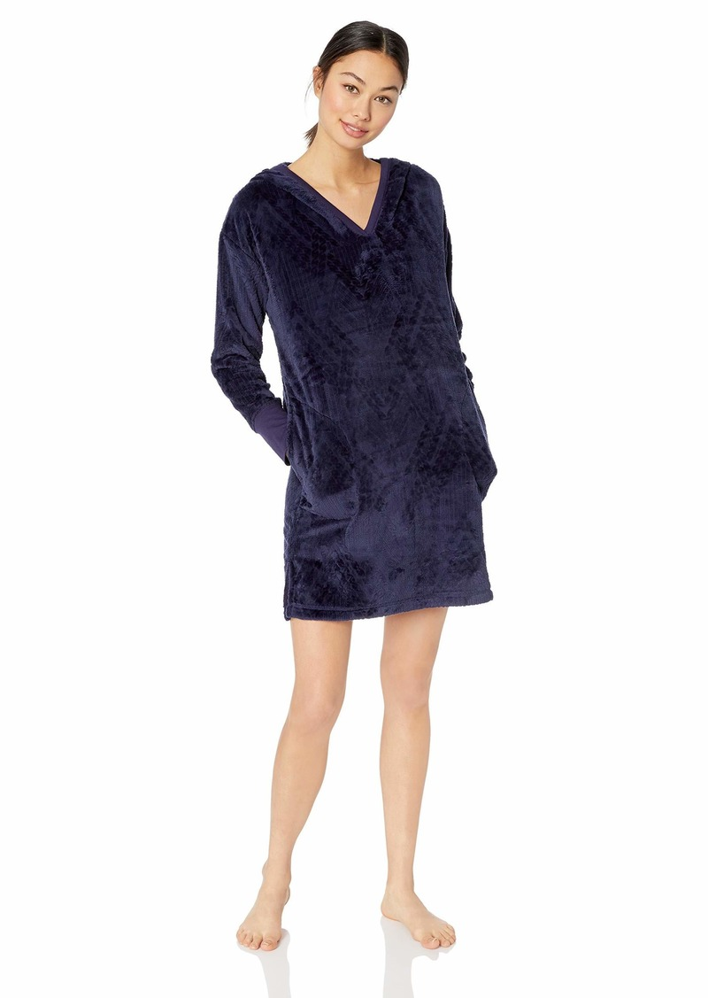 Nautica Women's Plush Sleep Lounger with Cable Knit Texture  M