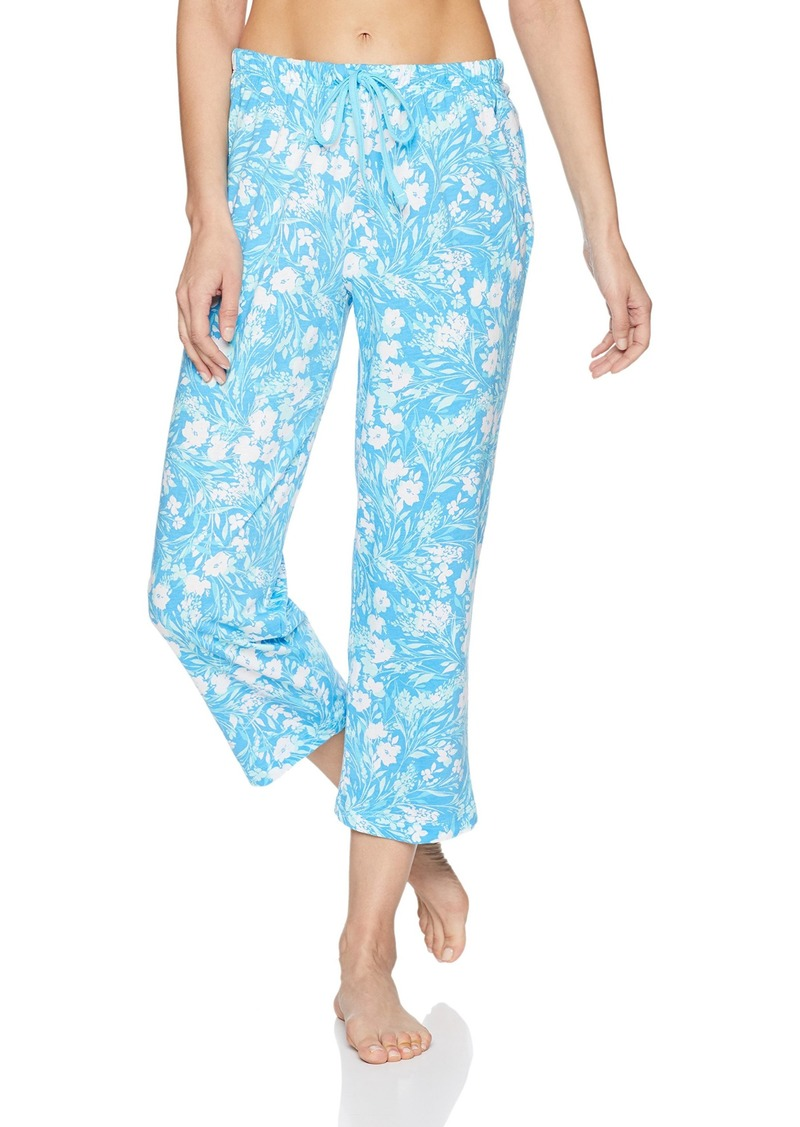 Nautica Women's Printed Capri Pajama Pant  M