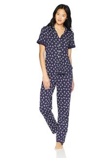 Nautica Women's Printed Jersey Pajama Set  L