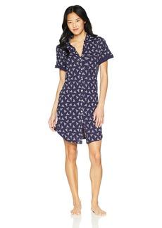 Nautica Women's Printed Jersey Short Sleeve Sleepshirt  XXL