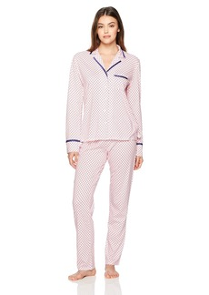 Nautica Women's Printed Notch Collar Pajama  XL