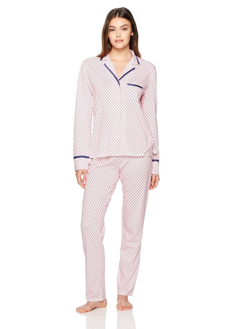 Nautica Women's Printed Notch Collar Pajama  XL