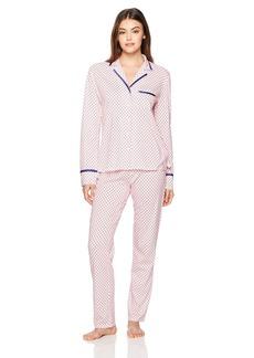 Nautica Women's Printed Notch Collar Pajama  S
