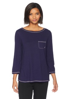 Nautica Women's Pullover Sleep TOP  XS