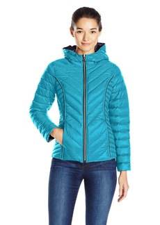 Nautica Women's Reversible Light Down Jacket W/ Hood  M