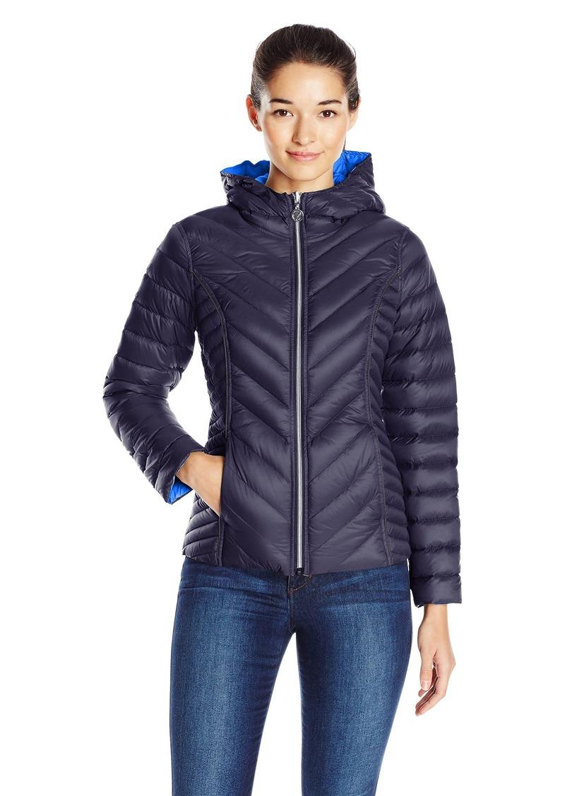 Nautica Women's Reversible Light Down Jacket W/ Hood  XS