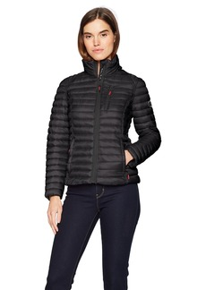 Nautica Women's Short Lightweight Packable Coat  Extra Large