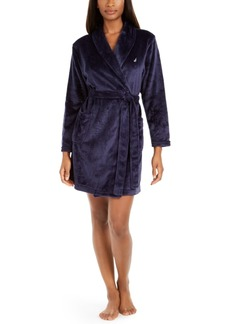 Nautica Women's Short Plush Wrap Robe
