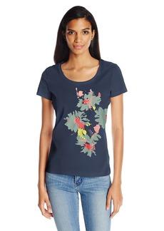 Nautica Women's Short Sleeve Graphic T-Shirt Navy seas VZ