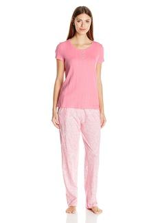 Nautica Women's Short Sleeve Jersey Knit Pajama  S