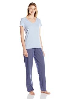 Nautica Women's Short Sleeve Knit Pajama Set  XL