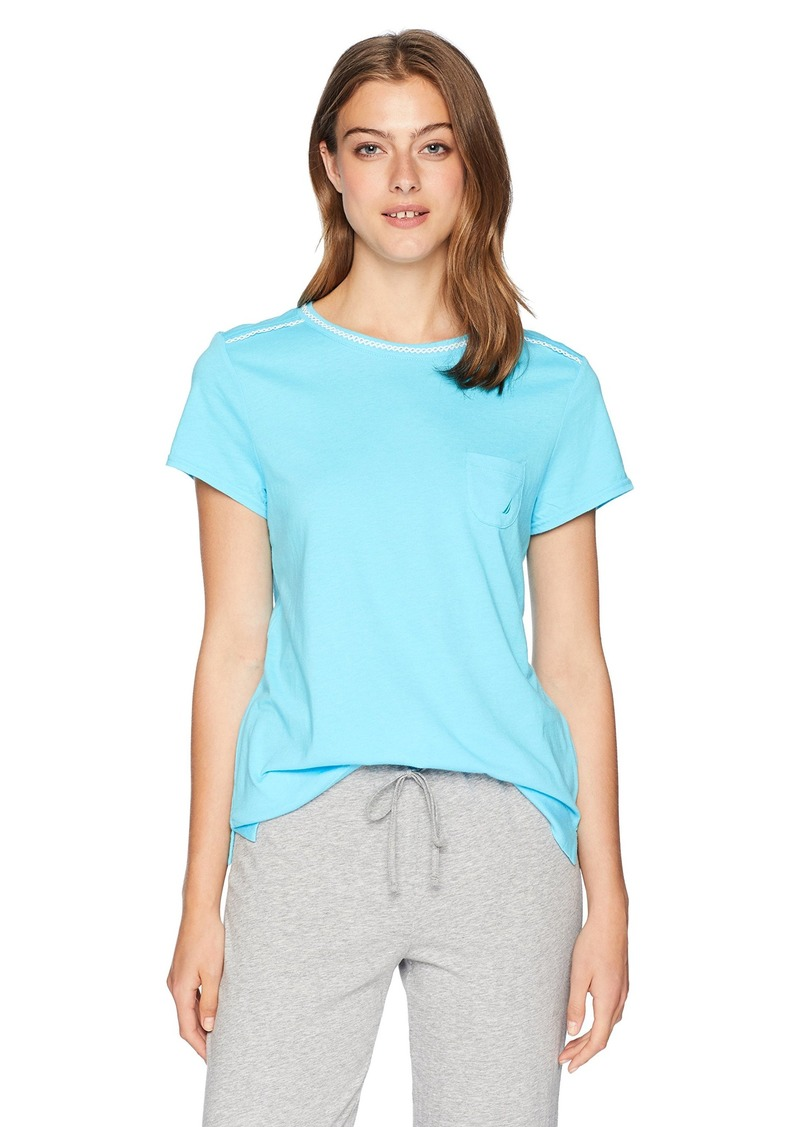 Nautica Women's Short Sleeve Sleep Top  XL