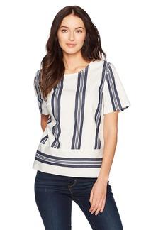 Nautica Women's Short Sleeve Striped Top