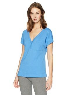 Nautica Women's Short Sleeve V-Neck Sleep Top  M