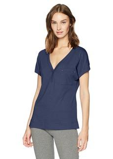 Nautica Women's Short Sleeve V-Neck Sleep Top  S