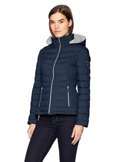 Nautica Women's Short Stretch Packable Coat