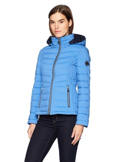 Nautica Women's Short Stretch Packable Coat  Extra Small
