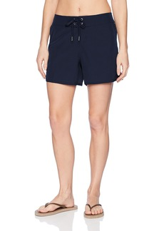 "Nautica Women's Solid Boardshorts 4 1/2"" Swim Shorts"