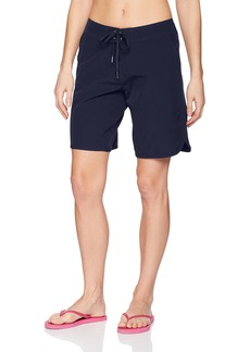 "Nautica Women's Solid Boardshorts 9"" Swim Shorts"