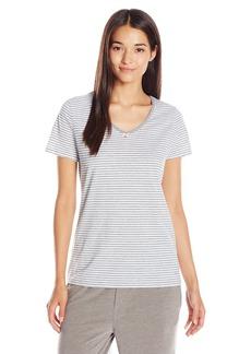 Nautica Women's Striped Knit V-Neck Tee  M