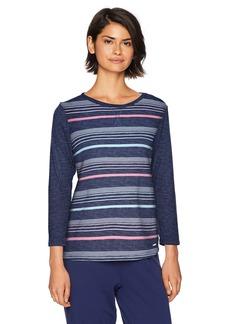 Nautica Women's Striped Pullover Sleep Top  L