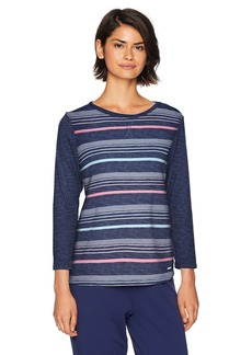 Nautica Women's Striped Pullover Sleep TOP  S