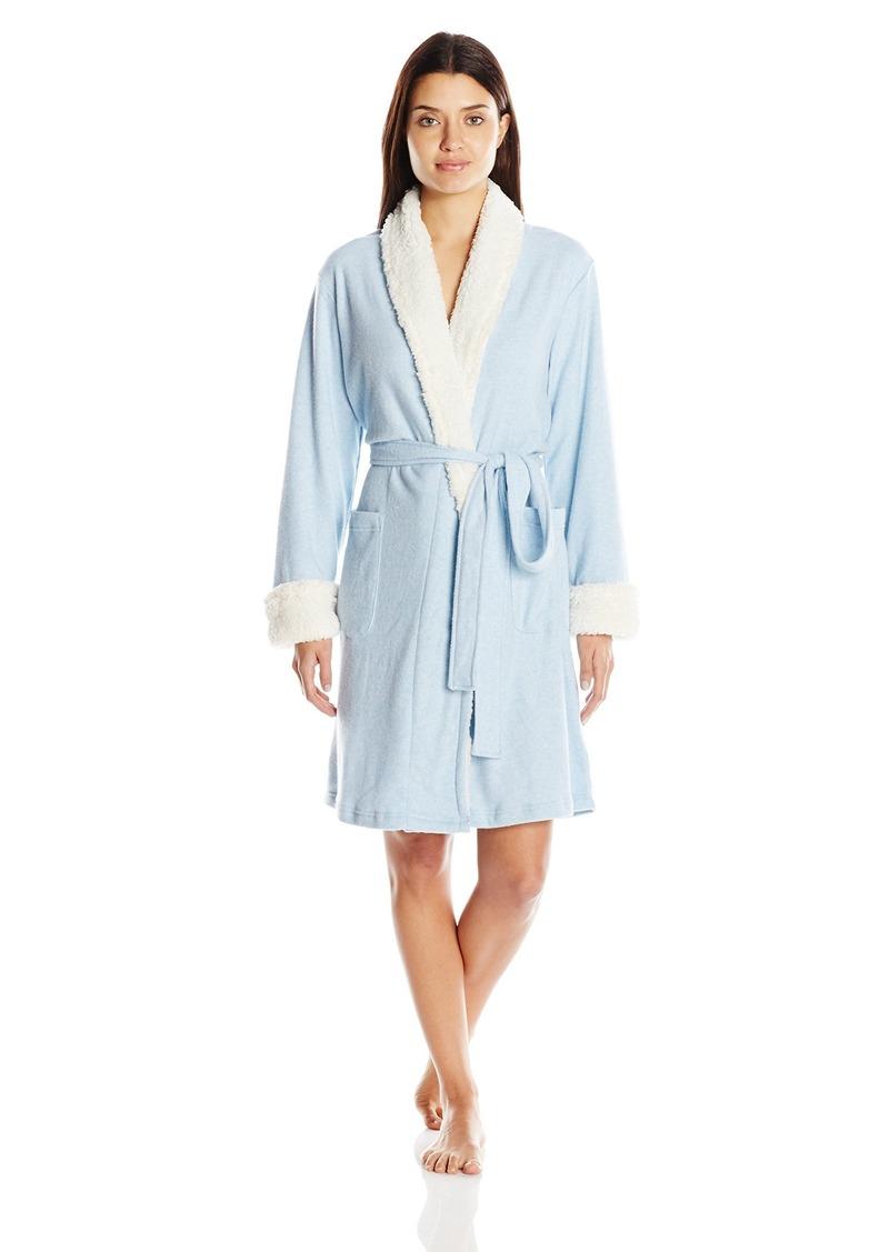 Nautica Women's Sweater Knit Lounge Robe  X-Large