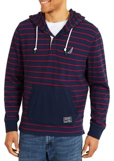 Nautica Yarn Dyed Placket Front Hoodie