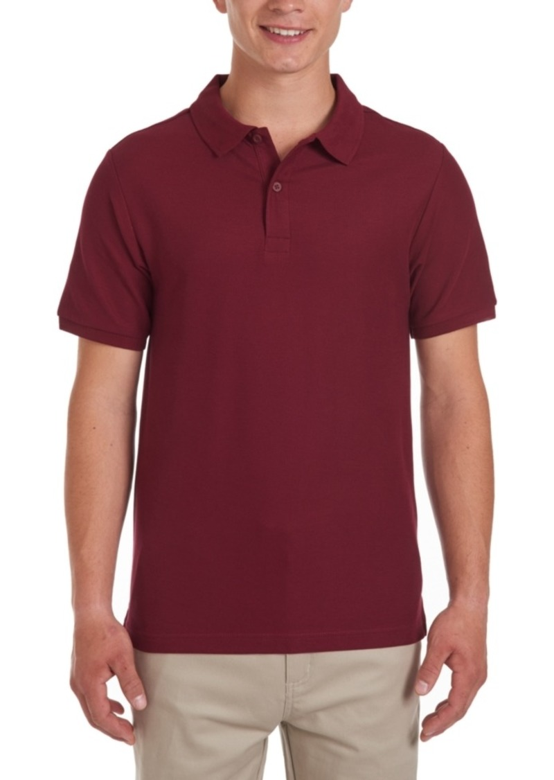 Nautica Young Men Short Sleeve Double Pique Polo
