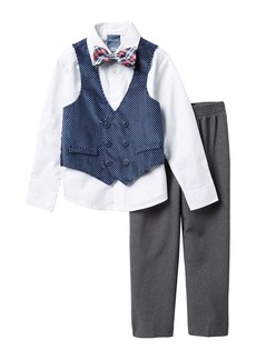 Nautica Polka Dot Velvet Vest, Shirt & Bow Tie, & Pants Set (Toddler Boys)