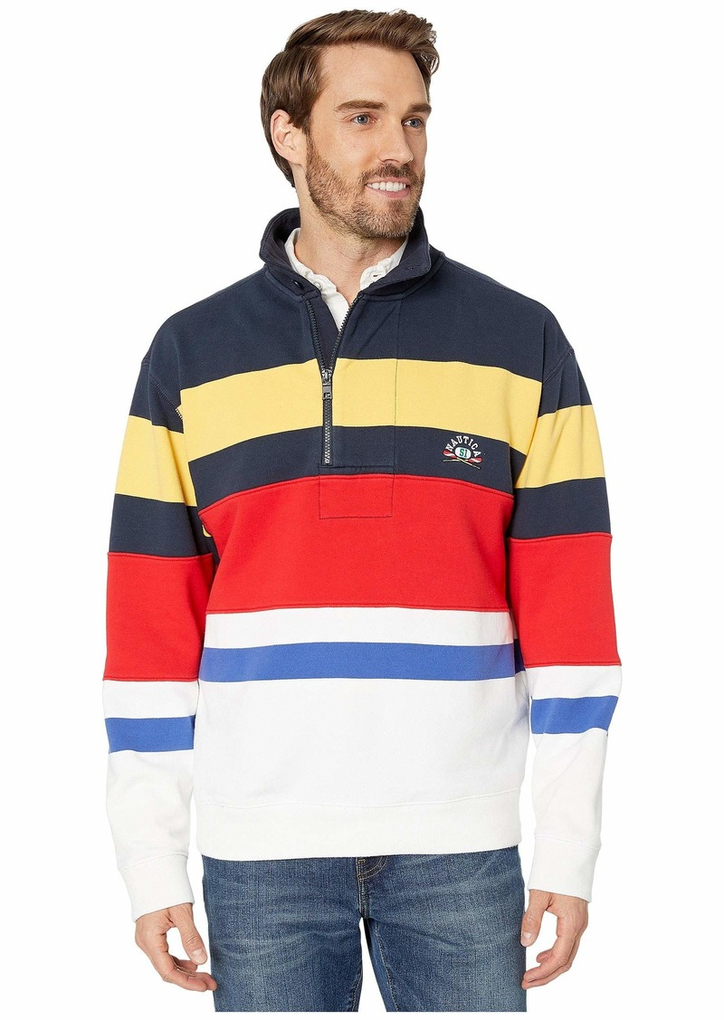 Nautica Re-Issue Stripe 1/4 Zip Sweater