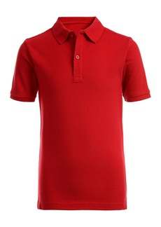 Nautica Short Sleeve Double Pique Polo Uniform Shirt (Big Boys)