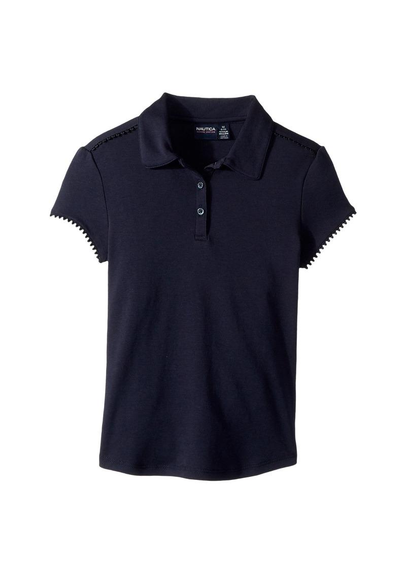 Nautica Short Sleeve Interlock Polo (Big Kids)