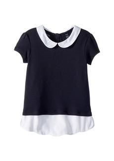 Nautica Short Sleeve Interlock Twofer Top (Little Kids)
