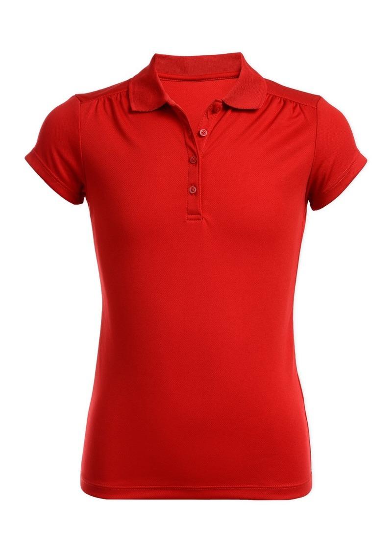 Nautica Short Sleeve Performance Uniform Polo (Big Girls)