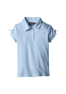 Nautica Short Sleeve Polo with Bow At Sleeve (Little Kids)