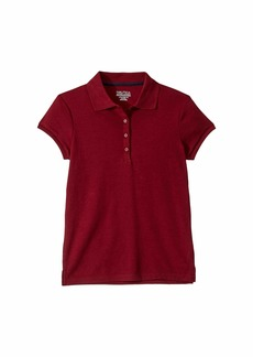 Nautica Short Sleeve Polo with Picot Stitch Collar (Big Kids)
