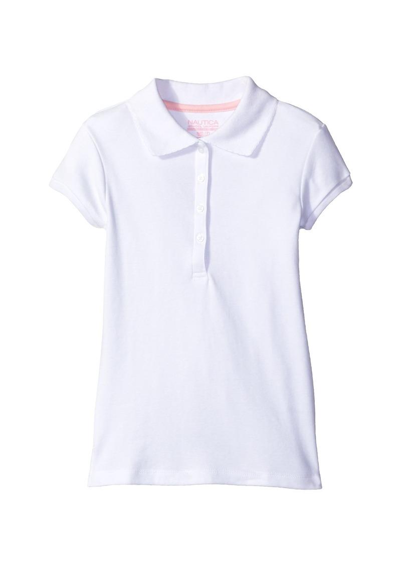Nautica Short Sleeve Polo with Picot Stitch Collar (Big Kids)