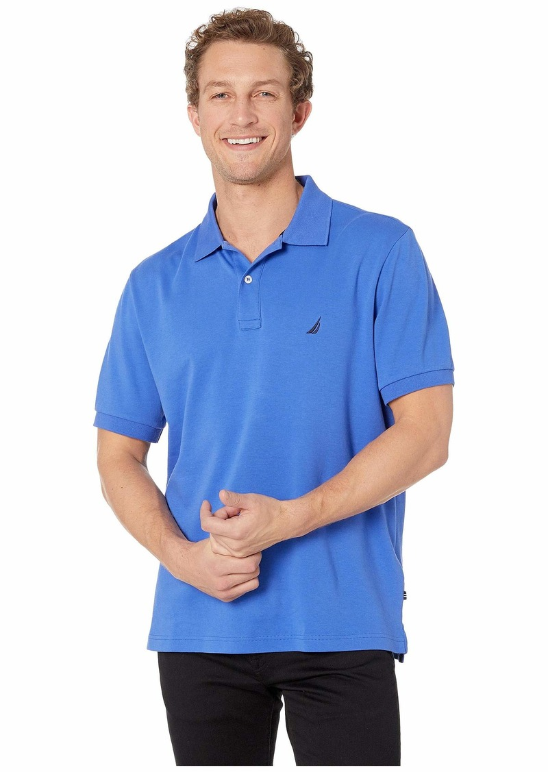 Nautica Short Sleeve Solid Interlock Polo