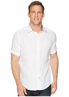 Nautica Short Sleeve Solid Linen Shirt