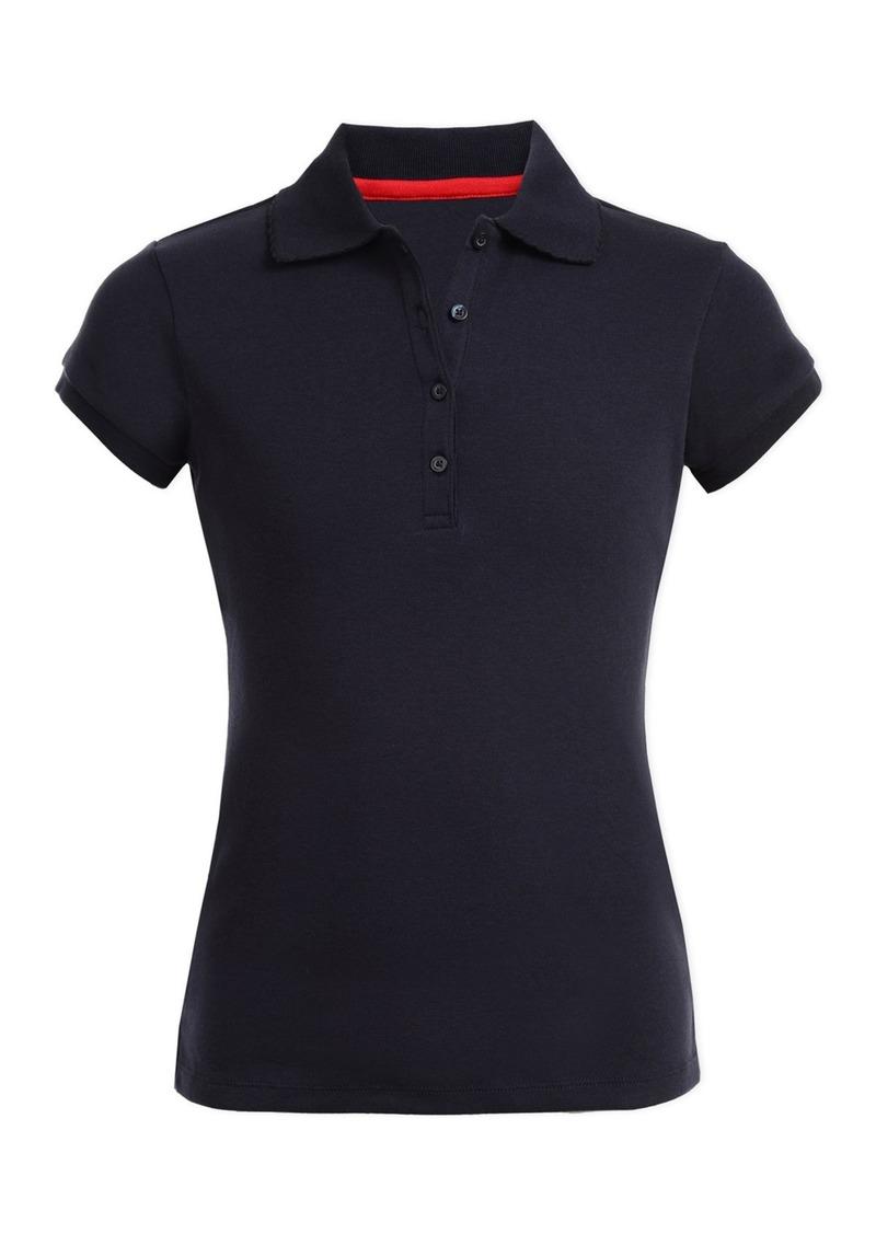 Nautica Short Sleeve Uniform Polo (Girls Plus)