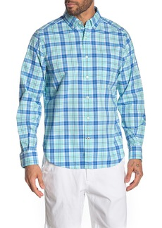 Nautica Stretch Fit Plaid Button-Down Shirt