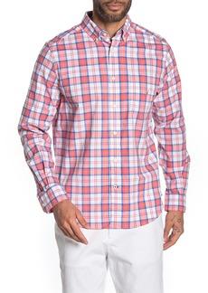 Nautica Stretch Fit Plaid Button-Down Shirt