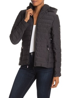 Nautica Stretch Water Resistant Hooded Puffer Jacket