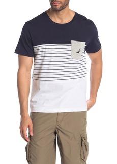 Nautica Stripe & Colorblock Pocket T-Shirt