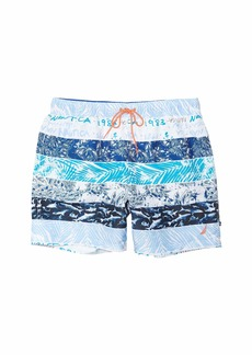 Nautica Stripe Block Swim Trunk